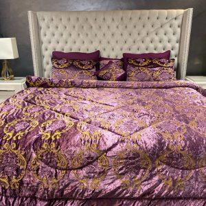 Midnight Sangria Bedding Set With Built-In Duvet