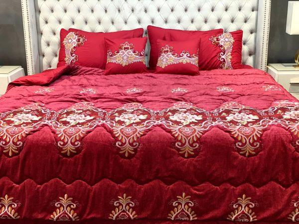 Red Luxury Bridal Duvet Bedsheet Set