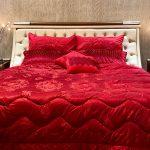 Red Luxury Bridal Duvet Bedsheets